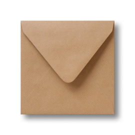 Enveloppen Kraftpapier (14 x 14 cm)