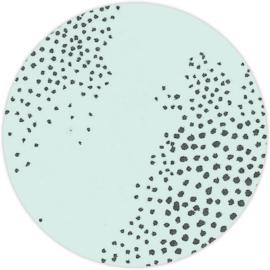 Sluitzegel Stippen op mintgroen