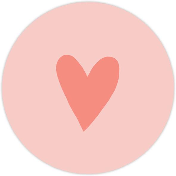 Sluitzegel Roze hartje