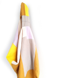 Reversible linen bag yellow