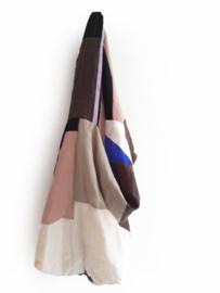 Reversible linen bag pink