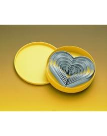 Stekerdoos kartel hartvormig 7-delig, rvs zware uitvoering