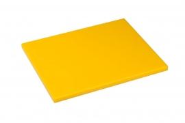 Snijplank Polyethyleen geel - 1/2 - 1/1 GN of 60x40 - met of zonder geul