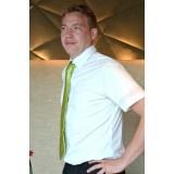 Heren overhemd - Luca korte mouw - zwart & wit (eigen merk)