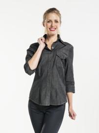 Blouse / shirt Chaud Devant - Women Antra Denim Stretch 3/4 sleeve