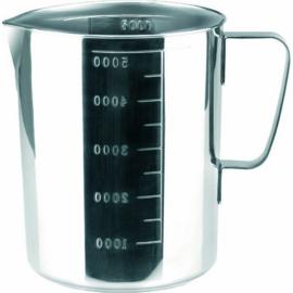 Maatbeker rvs 5.0 liter - H 22.5 cm