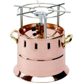 Flambeer rechaud koper - met gasbrander