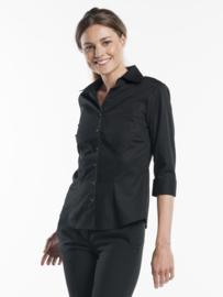 Blouse / shirt Chaud Devant - Women Black Stretch 3/4 sleeve