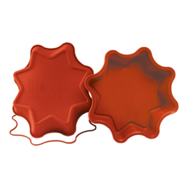 Flexibele bakvorm - Taartvorm grote ster - Silikomart - Uniflex