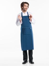 Schort Chaud Devant - Regular Pockets Blue Stripe W75 - L100
