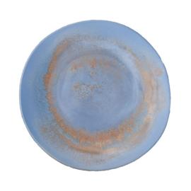Bord Stoneage vlak 28 cm - Continental Rust Blue