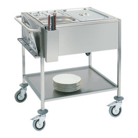 Gastronorm bain-marie wagen 2/1 GN - Max Pro