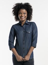 Blouse / shirt Chaud Devant - Women Blue Denim Stretch 3/4 sleeve
