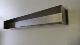 Patévorm trapezium vorm \_/ - 50 x 8 x 5.5 cm - rvs zware kwaliteit