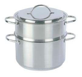 Stoomset - 2-delig - Demeyere (kookpot + kookpan) 20 cm