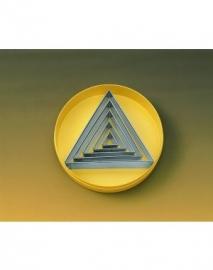 Stekerdoos glad driehoek 5-delig, rvs zware uitvoering