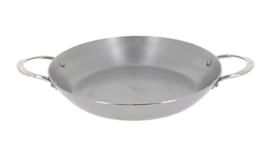 Paella pan plaatstaal - 32 cm - Mineral B - De Buyer