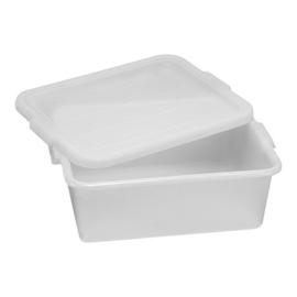Ingrediëntenbak - Wit polyethyleen, incl. deksel - stapelbaar - 30 liter