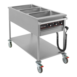 Gastronorm bain-marie wagen 3x 1/1 GN - Max Pro
