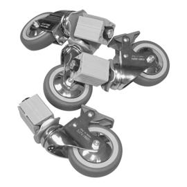 Wielenset - 4 wielen waarvan 2 met rem