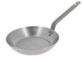Grillpan plaatstaal - 26 cm - Mineral B - De Buyer
