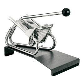 Fritessnijder - Tellier - tafelmodel, zwaar verchroomd, met geëpoxeerd voetstuk, met mesrooster en drukstuk