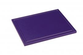 Snijplank Polyethyleen paars - 1/2 - 1/1 GN of 60x40 - met of zonder geul