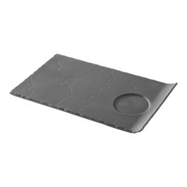 Party bord rechthoekig - zwart