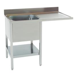Spoeltafel - met achteropstand, onderplank en onderbouw