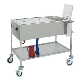 Gastronorm bain-marie wagen 3/1 GN - Max Pro