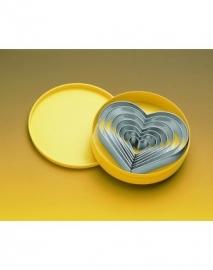 Stekerdoos glad hartvormig 7-delig, rvs zware uitvoering