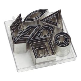 Figuurstekerdoos - Rvs, set van 42 stuks (7 verschillende figuren elk in 6 maten)