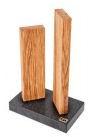 Messenblok Kai Stonehenge Eikenhout met granieten voet STH-3.3