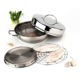 Rookset  Demeyere (pan + rookkamer + stoomrooster + deksel)
