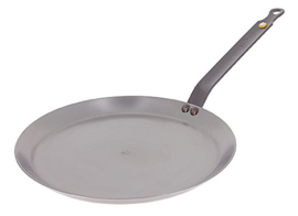 Pannenkoekenpan / crêpepan plaatstaal - 24 cm - Mineral B - De Buyer