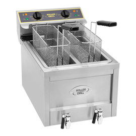 Friteuse elektrisch - 8+8 liter - Roller Grill