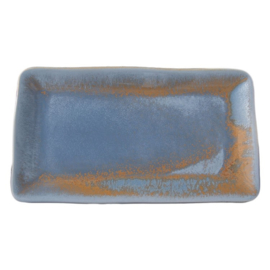Schaal stoneage rechthoek 28 x 16 cm - Continental Rust Blue