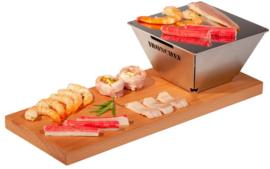Snack Teppanyaki met plank (2 stuks) - Iron Chef