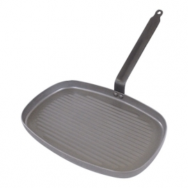 Grillpan - DeBuyer - geribbeld plaatstaal rechthoekig