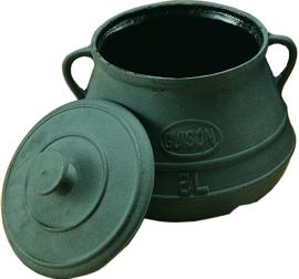 Kookpot met deksel gietijzer - Guison - 2, 5 of 10 liter