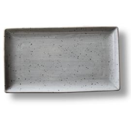 Schaal rechthoekig 28 x 16 cm - Continental Rustic grijs