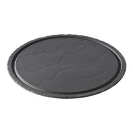 Steakbord - rond - zwart