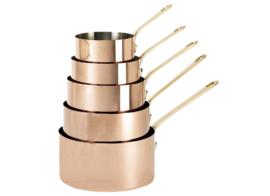Set van 5 steelpannen koper - 12-20 cm - Inocuivre - De Buyer