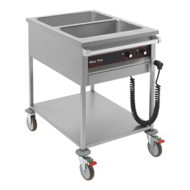 Gastronorm bain-marie wagen 2x 1/1 GN - Max Pro