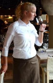 Dames blouse Linda - 3/4 mouw - zwart & wit (eigen merk)