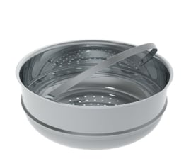 Stoominzet - stoomkoker - steam cooker - 24 cm - De Buyer