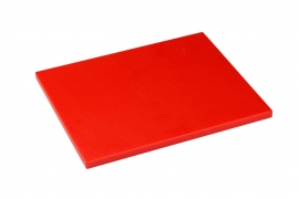 Snijplank Polyethyleen rood - 1/2 - 1/1 GN of 60x40 - met of zonder geul