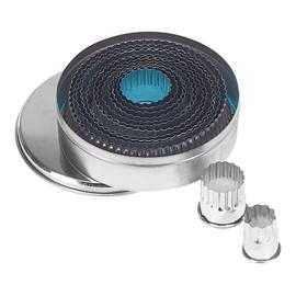Stekerdoos - 14-delig: blik, rond, gekarteld (2-11 mm)