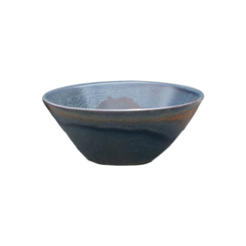 Flaired bowl stoneage 16 x 5 cm - Continental Rust Dark