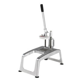 Fritessnijder - Sammic - tafelmodel met zuignappen, geheel RVS, met mesrooster en drukstuk